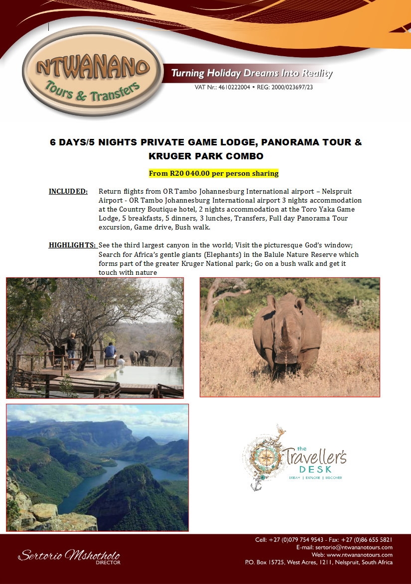kruger-park-private-lodge-and-panorama-tour